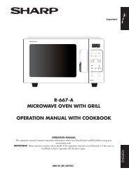 R-667-A Operation-Manual GB - Sharp