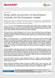 Sharp starts production of black/black modules for the European ...
