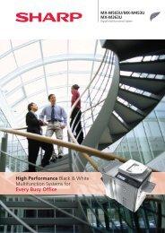 MX-M503U/M453U/M363U Brochure GB - Sharp
