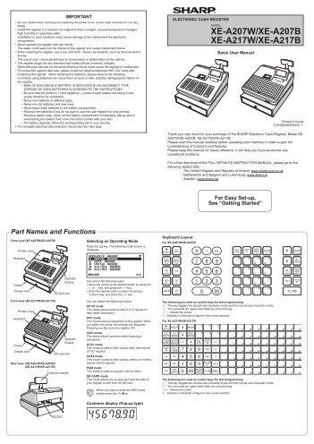 sharp xe a147 full detailed instruction manual