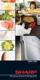 R-xx Microwave 2005 Brochure GB - Sharp