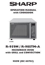 R-959M/98STM-A Operation-Manual GB - Sharp