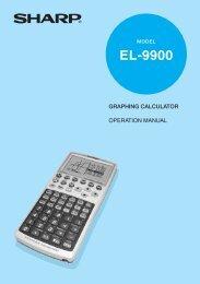 EL-9900 Operation-Manual GB - Sharp