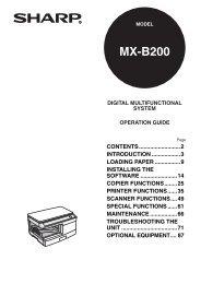 MX-B200 Operation-Manual GB - Sharp