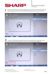 Using Skype - Sharp