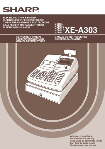 XE-A303 Operation-Manual GB - Sharp