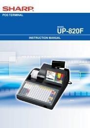 UP-820F Operation-Manual GB - Sharp
