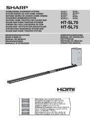 HT-SL70/SL75 Operation-Manual GB - Sharp
