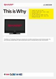 LC-40SH340K-LCD TV 37 - 42 inch - Sharp Electronics