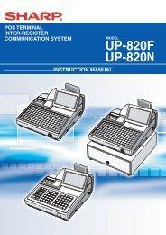 UP-820F/N Operation-Manual GB - Sharp