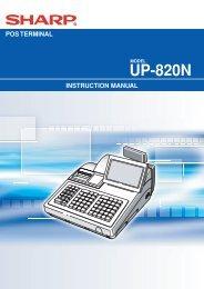 UP-820N Operation-Manual GB - Sharp