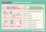MX-2614N/2615N/3114N/3115N Operation ... - Sharp Electronics