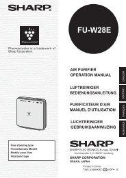 FU-W28E Operation-Manual GB DE FR NL - Sharp