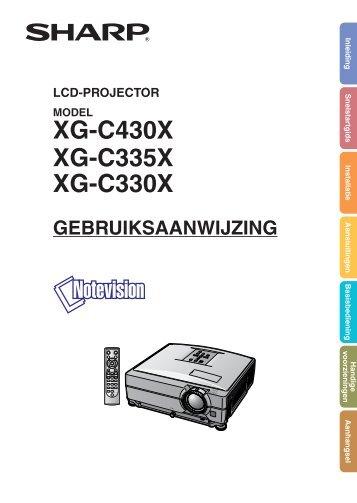 XG-C430X/C335X/C330X Operation-Manual NL - Sharp