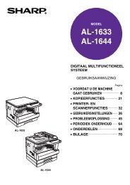 AL-1633/1644 Operation-Manual NL - Sharp