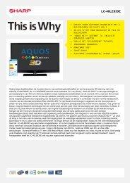 LC-40LE830E-LCD TV - Sharp Electronics