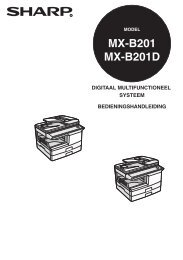 MX-B201/D Operation-Manual NL - Sharp