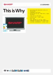 LC-22DS240EX-LCD TV - Sharp Electronics
