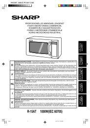 R-15AT Operation-Manual NL - Sharp