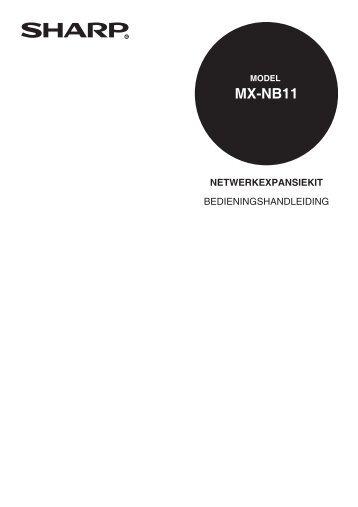 MX-NB11 Operation-Manual NL - Sharp