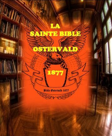La Sainte Bible Ostervald 1877