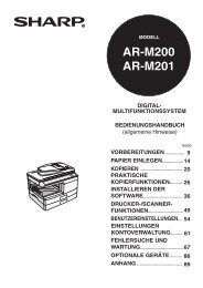 AR-M200/201 Operation-Manual DE - Sharp