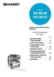 AR-M236 AR-M276