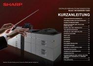KURZANLEITUNG - Sharp