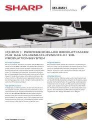 MX-BMX1: PROFESSIONELLER BOOKLET-MAKER FÜR ... - Sharp
