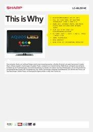 LC-40LE814E-LCD TV 37 - 42 Zoll - Sharp Electronics