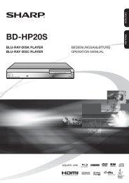 BD-HP20S Operation-Manual DE - Sharp