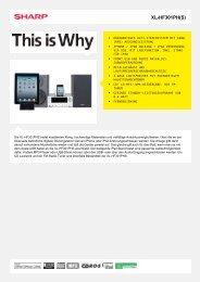 XL-HF301PH(S)-Audio System - Sharp Electronics