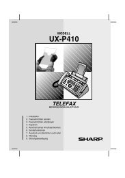 UXP410 Thermal Transfer Facsimile German - Sharp