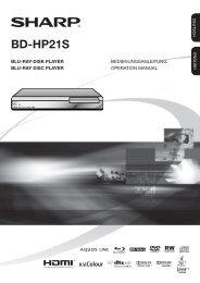 BD-HP21S Operation-Manual DE - Sharp