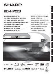 BD-HP22S Operation-Manual DE - Sharp