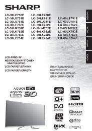 LC-39LE750E LC-39LE751E LC-39LU751E LC-39LE752E ... - Sharp
