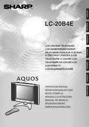 LC-20B4E Operation-Manual DE - Sharp