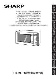 R-15AM Operation-Manual DE FR NL IT ES CZ HU SK PL - Sharp