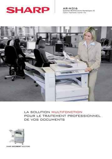 Brochure commerciale AR-M316 - Sharp