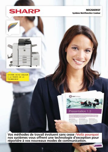 Documentation commerciale MX2640NSF - Sharp