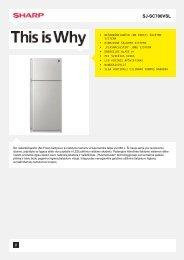 Duomenų lapas SJSC700VSL - Sharp