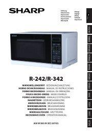 R-242/342 Operation-Manual GB - Sharp