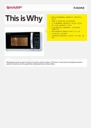 Duomenų lapas R642INE - Sharp