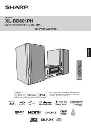 XL-BD601PH Operation-Manual LT - Sharp