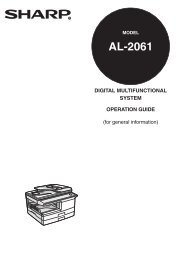 AL-2061 Operation-Manual GB - Sharp