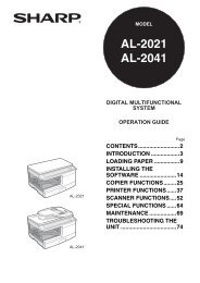 AL-2021/2041 Operation-Manual GB - Sharp