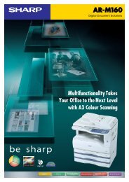 ARM160 Brochure - Sharp Corporation of Australia
