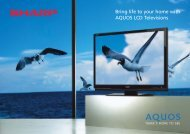 Bring life to your home with AQUOS LCD Televisions - Sharp ...
