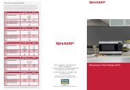 Microwave Oven Range 2010 - Sharp Corporation of Australia