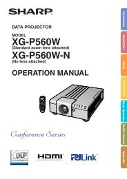 XGP560W N Operation Manual - Sharp Corporation of Australia